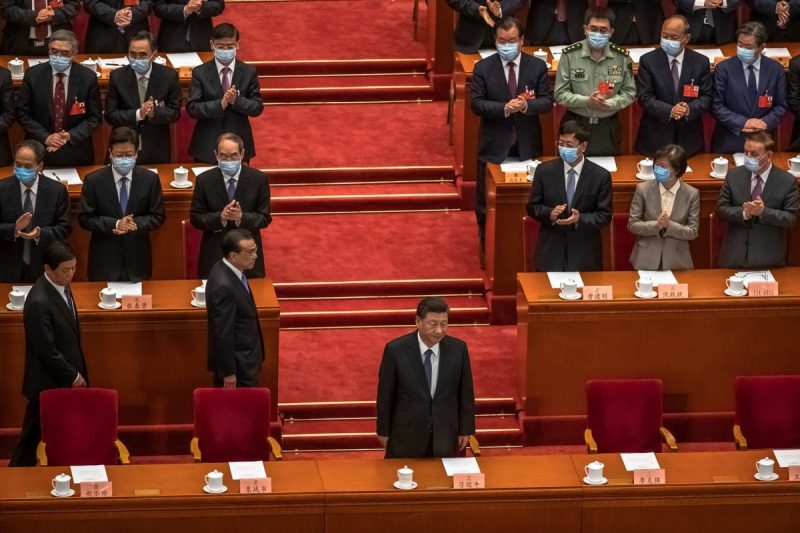 President Xi Jinping of China at the Great Hall of the People in Beijing on Wednesday. Credit Roman Pilipey/EPA, via Shutterstock