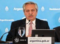 El presidente de Argentina, Alberto Fernández, el 8 de mayoCredit...Esteban Collazo/Agence France-Presse vía Presidencia de Argentina/Afp — Getty Images