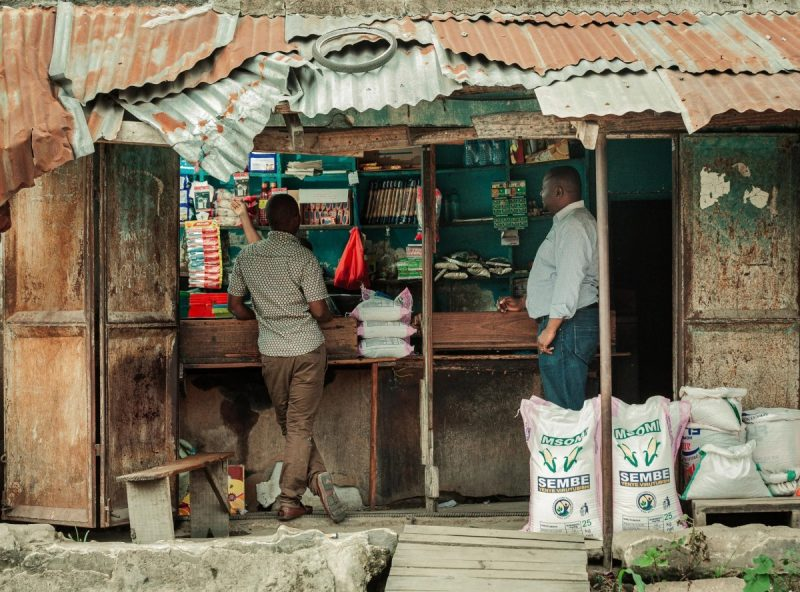 In Dar es Salaam, the organization Sanku sends staff members to interview shop owners about the market for fortified flour there. Credit Malicky Boaz/Sanku