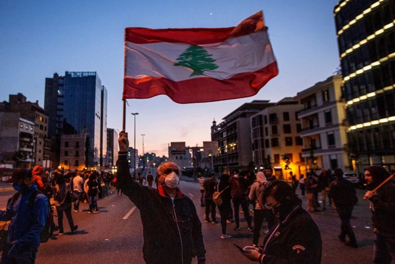 Protesting against the government's failure to check increasing prices and falling currency, in Beirut, Lebanon, last month. Credit Nabil Mounzer/EPA, via Shutterstock