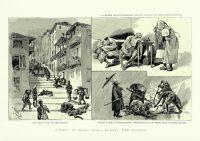 Dans les rues de Hong Kong en 1894, les morts de la peste bubonique gisent au sol. Illustrations Getty Images