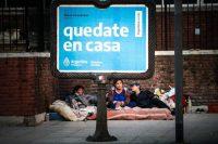 Personas sin techo en Buenos Aires el 3 de mayo. Credit Juan Ignacio Roncoroni/EPA vía Shutterstock