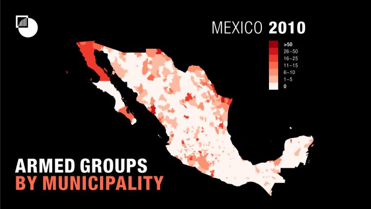 Grupos armados por municipio 2010. CRISISGROUP