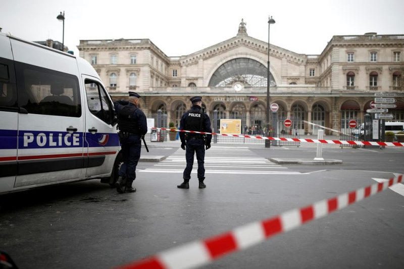 La Gare de l'Est, à Paris, le 17 mars. Photo Benoît Tessier. Reuters