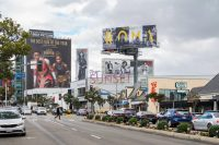 "The streaming service Netflix erected signs around Los Angeles last year to promote ""Roma,"" which was nominated for 10 Academy Awards, including best picture. Credit Hunter Kerhart for The New York Times"