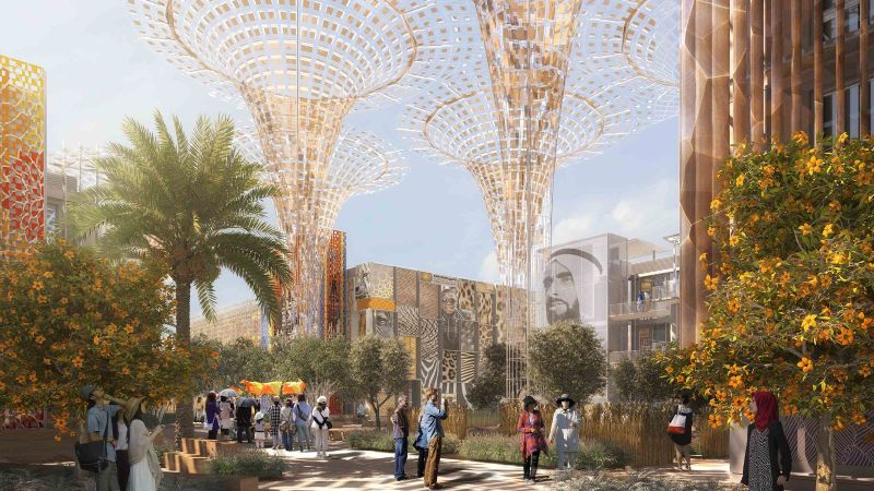 An artist's rendering of the Dubai Expo 2020 site.