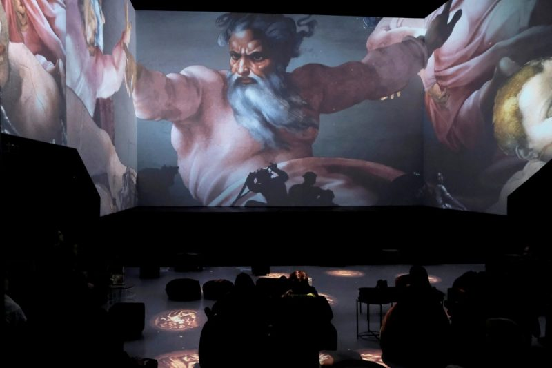 "Work by Michelangelo being displayed at the ""Digital Art House"" multimedia exhibit in Riga, Latvia, earlier this year. Credit Ints Kalnins/Reuters"