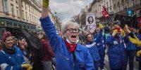 Manifestación contra el uso del artículo 49-3 de la Constitución en París, 3 de marzo de 2020. Kiran Ridley/Getty Images
