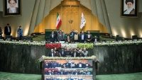 Iran's newly elected legislatures convened to elect the presidium and new parliament speaker in Tehran, Iran on 28 May 2020. Tasnim News Agency/Erfan Kouchari