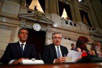 El presidente de la Argentina, Alberto Fernández, prometió reformar la inteligencia durante su discurso de inauguración del periodo de sesiones en el Congreso. Credit Agustín Marcarian/Reuters