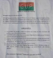 Figura 1. Ejemplo de aviso de una organización guerrillera o criminal, Colombia. Fuente: reproducida en Infobae, 12/IV/2020.