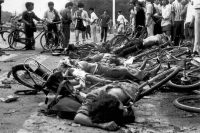Bodies of civilians killed during the Tiananmen Square crackdown on June 3 and 4, 1989. Credit Associated Press