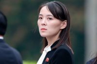 North Korea's leader, Kim Jong-un, is young and belligerent. His sister, Kim Yo-jong, is younger and more belligerent still. Credit Pool photo by Jorge Silva