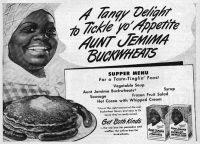 Una anuncio de Aunt Jemima de la década de los cuarenta. Credit Vía Reuters