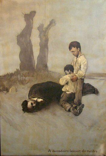 'La última lección del maestro' de Alfonso Daniel Rodríguez Castelao.