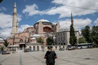 Hagia Sophia in Istanbul on Friday. Credit Chris McGrath/Getty Images