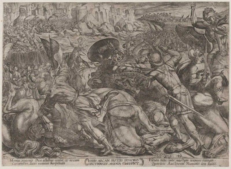 """The Fall of Jericho,"" by Italian artist Antonio Tempesta, created circa 1590–1610. (The Metropolitan Museum of Art)"