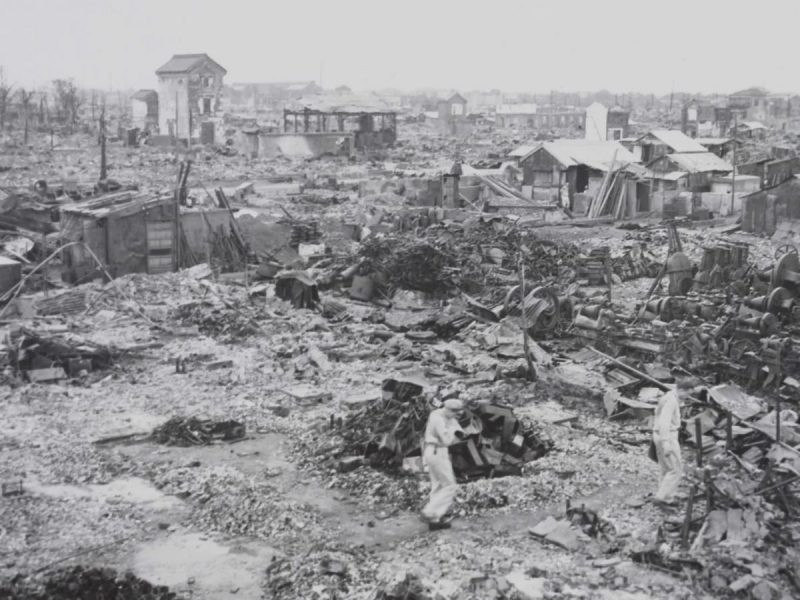 Tokyo shows the results of constant and heavy bombing raids by American B-29 Superfortresses during World War II. (Library of Congress)