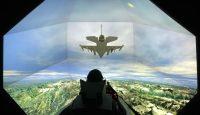 F-16 SimuSphere HD flight simulator at Link Simulation in Arlington, Texas, US. Photo: Getty Images.