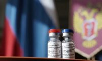 Vials of Russia's Sputnik V vaccine, the first coronavirus vaccine in the world. While phase one and two trials of the vaccine have been pre-registered, they are reportedly ongoing and have not yet posted any results. There is no evidence a phase three trial has even been started. Photograph: Anadolu Agency/Getty Images