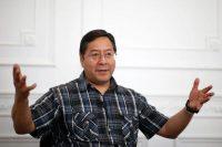 Luis Arce, candidato a la presidencia de Bolivia por el MAS, el partido liderado por Evo Morales. Credit Juan Ignacio Roncoroni/EPA vía Shutterstock