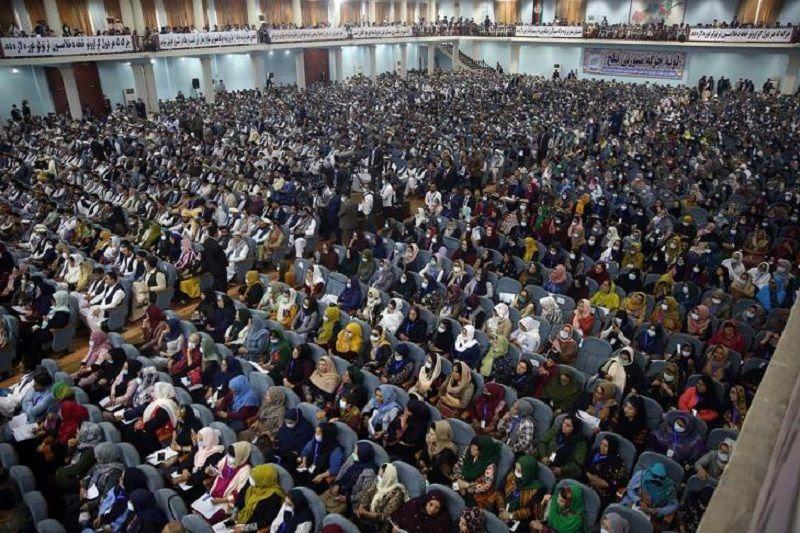 Delegates at the loya jirga in Kabul last month. © Rahmat Gul / AP