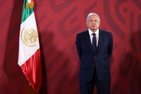 El presidente de México, Andrés Manuel López Obrador, en el Palacio Nacional en Ciudad de México. Una de sus promesas de campaña era combatir la corrupción. Credit Adrián Monroy/Medios y Media vía Getty Images