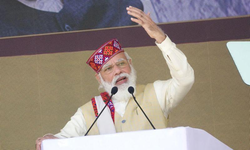 Narendra Modi is trying to stifle Amnesty in India. Photograph: Sanjay Baid/EPA