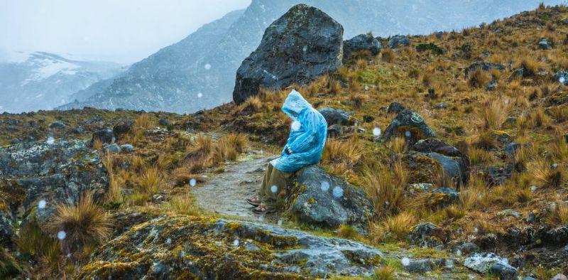 Una persona el nevado Huaytapallana (Huancayo, Perú). Shutterstock / Milton Rodriguez