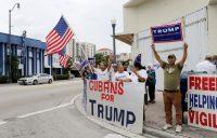 Un grupo de cubanoamericanos que apoyaban a Trump en la campaña electoral de 2016. Credit Alan Diaz/Associated Press