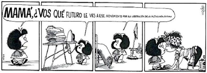 Quino, viñeta de Mafalda.