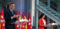 El presidente del Gobierno de España, Pedro Sánchez, y la presidenta de la Comunidad de Madrid, Isabel Díaz Ayuso, el 21 de septiembre en Madrid. Pool Moncloa/Borja Puig de la Bellacasa