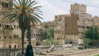A woman walks in the old city of the Yemeni capital, Sanaa. July 2019. CRISISGROUP/Peter Salisbury.