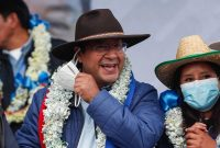 President-elect Luis Arce of Bolivia has committed to a return to stability and inclusion. Credit Juan Karita/Associated Press