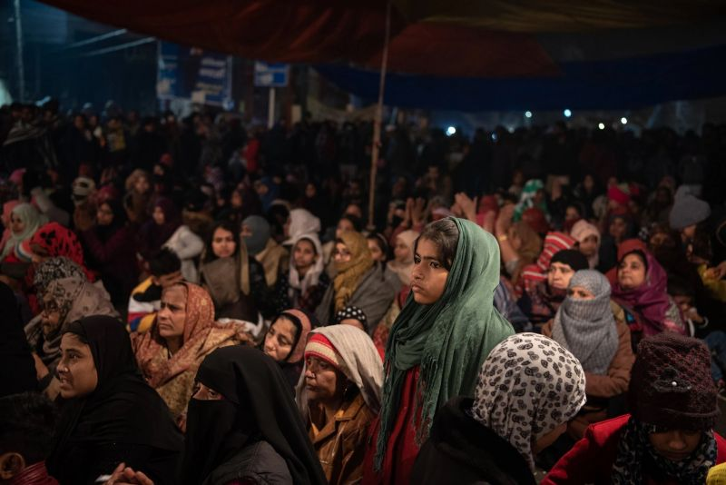 The protest against the Citizenship Amendment Act in Shaheen Bagh, a neighborhood in New Delhi on Dec. 30, 2019. Credit Saumya Khandelwal for The New York Times