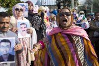 Manifestation pour soutenir les Sahraouis du groupe de Gdeim Izik, à Salé en décembre 2016. Photo Fadel Senna. AFP