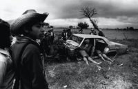 Pierre Perrin/Gamma Rapho via Getty Images Bodies of suspected rebels dumped in a wrecked car by the White Hand, a right-wing paramilitary group, during the civil war in Guatemala, 1982