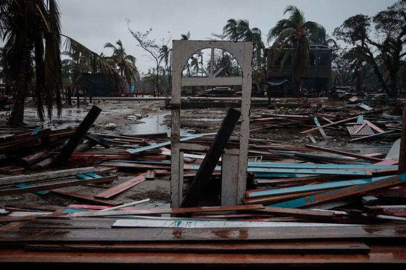 Un barrio de Bilwi (Nicaragua), destruido por el huracán Iota.Carlos Herrera