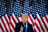 El presidente de Estados Unidos, Donald Trump, habla en la Casa Blanca el miércoles 4 de noviembre de 2020. (Jabin Botsford/The Washington Post)