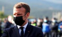 French president Emmanuel Macron: accused a Financial Times writer of misquoting him. Photograph: Reuters