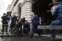 Britain's Prime Minister Boris Johnson arrives back at Downing Street in London on November 10, 2020 after chairing the weekly cabinet meeting held at the nearby Foreign, Commonwealth and Development Office. (Photo by JUSTIN TALLIS / AFP) (Photo by JUSTIN TALLIS/AFP via Getty Images)