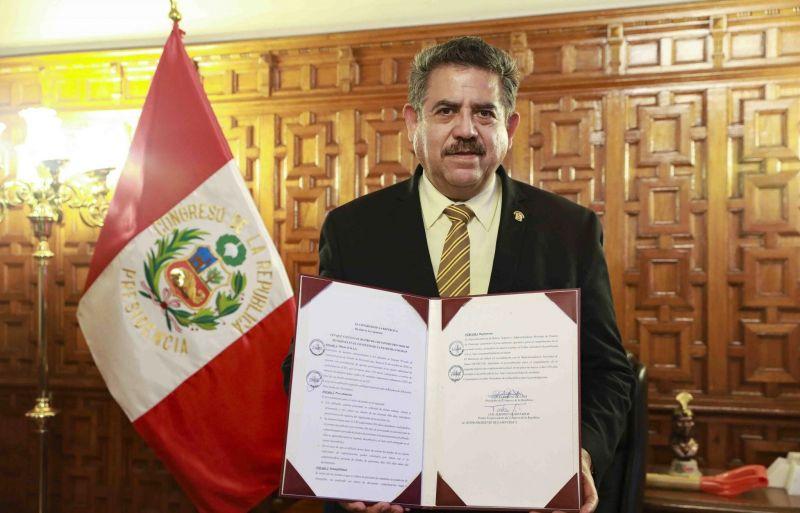 Solo hace unos meses, Manuel Merino fue designado como presidente del Congreso. Credit EPA vía Shutterstock
