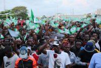 Adetona Omokanye/Getty Images Demonstrators protesting police brutality at the Lekki toll gate, Lagos, Nigeria, October 20, 2020