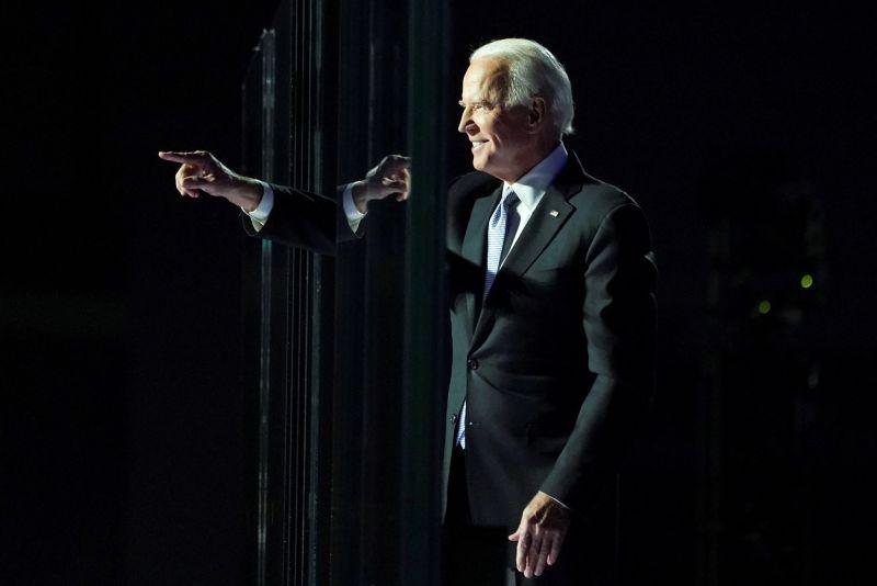 Joe Biden, el presidente electo de Estados Unidos, el 7 de noviembre, cuando se declaró su victoria. Credit Kevin Lamarque/Reuters