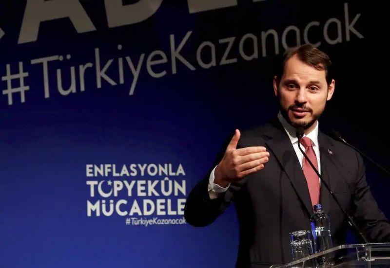 Turkish Finance Minister Berat Albayrak in Istanbul in October 2018. (Murad Sezer/Reuters)