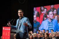 Pedro Sánchez, en un mitín del PSOE. Shutterstock