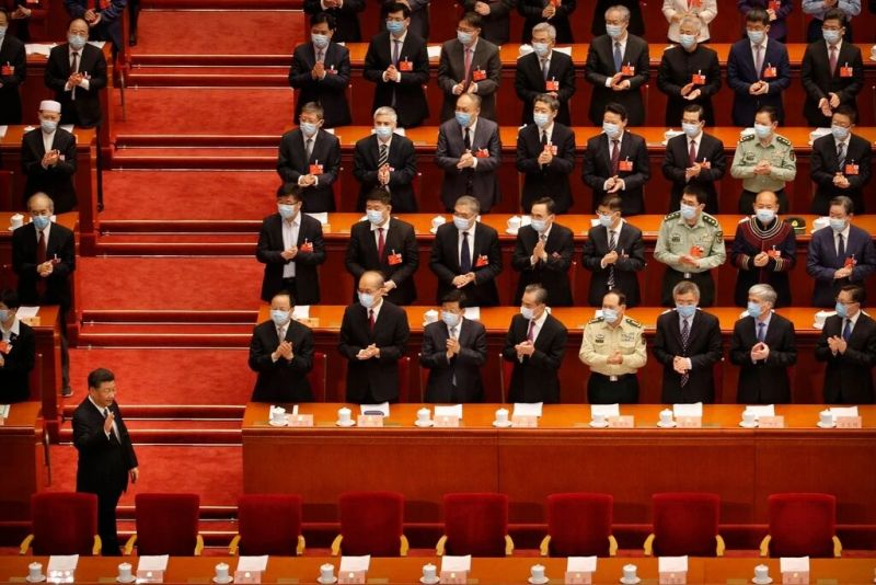 "President Xi Jinping of China arriving at a gathering of a top advisory body to the central government in Beijing in May. Ten months ago some warned that the coronavirus epidemic would become ""China's Chernobyl."" Today, Mr. Xi seems to be getting his way on nearly all fronts. Credit Pool photo by Andy Wong"