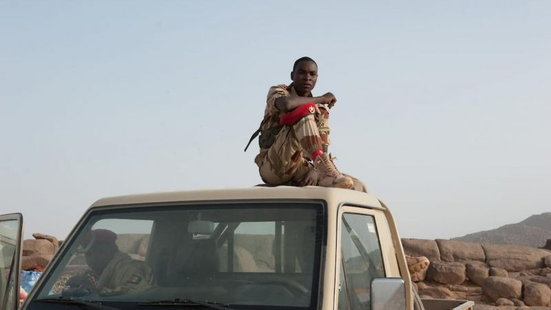 A member of Niger's security forces at Iferouane festival, Agadez region, in February 2019. CRISISGROUP/Julie David de Lossy