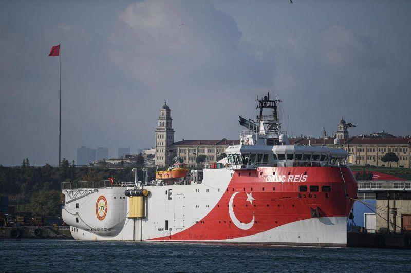Le navire d'exploration turc Oruç Reis. Photo d'archives AFP