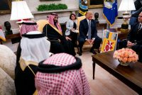 President Trump was an unabashed supporter of Crown Prince Mohammad bin Salman of Saudi Arabia. Credit Doug Mills/The New York Times